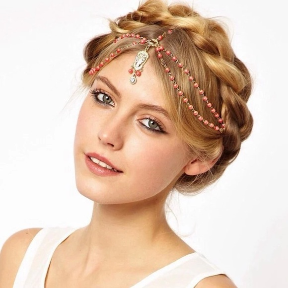 a2293cee9ffae Red Double Layer Bohemian Headband Boutique